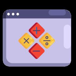 learning, web, math, internet, seo, education icon icon