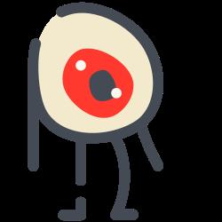 legs, freak, emoji, eyes, hands icon icon