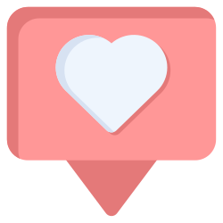 like, romantic, heart, greeting, love icon icon