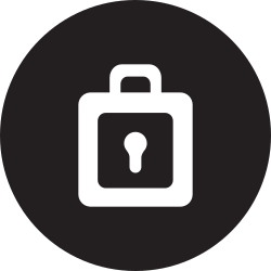 linecon, lock, safety, pass, password, round icon icon