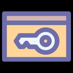 lock, security, key, card, door icon icon