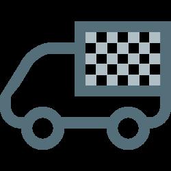 logistics, cargo, moving, truck, lorry, transport, vehicle icon icon
