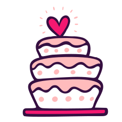 love, party, dessert, cake, sweet, topper, wedding icon icon