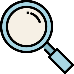 magnifier, search, mobile, smartphone, application, ui, user interface icon icon
