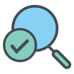 magnifying, glass, truck, magnifier, transportation, shipping, logistic icon icon