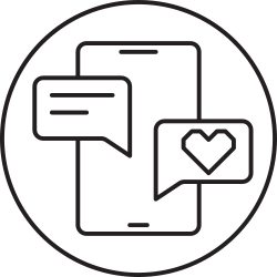 mail, message, smartphone, love, chat icon icon
