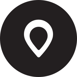 map, full, pin, place, location, round icon icon