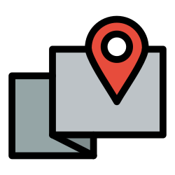 map, pin, location, sign, mark icon icon
