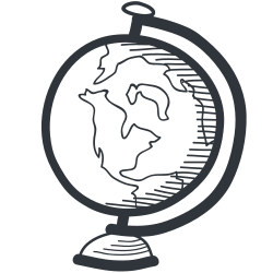 map, school, knowledge, university, academy, globe, learning, academic, earth, student, teaching, world, teach, education, tool, geography icon icon