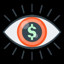 market, finance, vision, market vision, eye icon icon