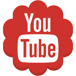 media, flower, youtube, round, social icon icon
