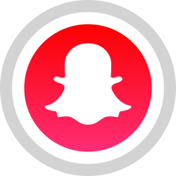 media, logo, snapchat, social icon icon