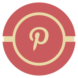 media, pintrest, vintage, social icon icon