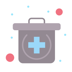 medical, kit, emergency icon icon