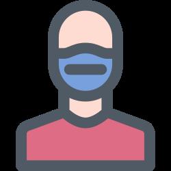 medical, protection, mask, human icon icon