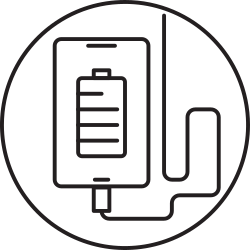 mobile, device, smartphone, charge icon icon
