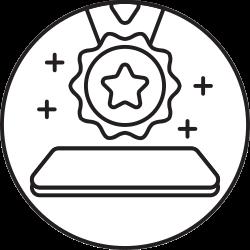 mobile, favorite, smartphone, badge, star icon icon