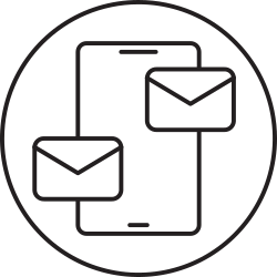 mobile, mail, smartphone, message icon icon