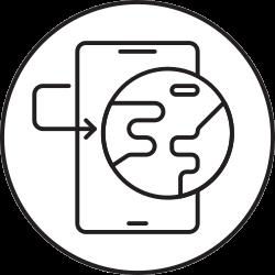 mobile, phone, smartphone, internet icon icon