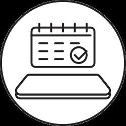 mobile, phone, smartphone, calendar icon icon