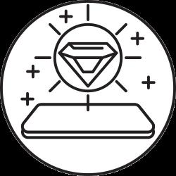 mobile, phone, smartphone, diamond icon icon