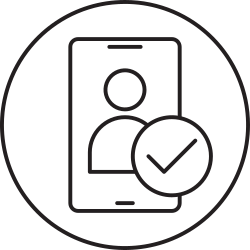 mobile, phone, verificatoin, smartphone icon icon