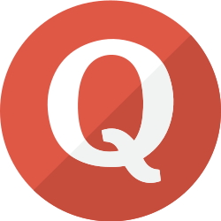 modern, simple, quora, question, social, red icon icon