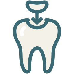 molar cavity, medical, dentist, dentistry, decayed tooth, dental, dental treatment icon icon