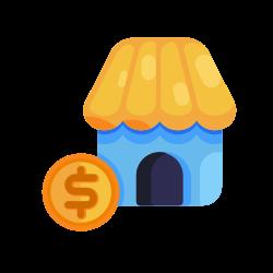 money, business, shop, marketing, coin, seo icon icon