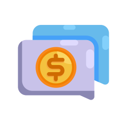 money, communication, coin, interaction, chat, bubble, finance icon icon