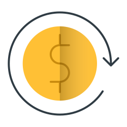 money, currency, retail, shopping, reload icon icon