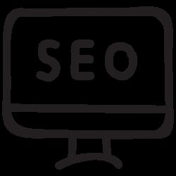 monitor, service, communication, device, optimization, marketing, seo icon icon