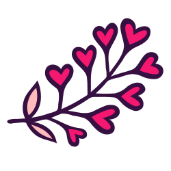 nature, branch, floral, flowering, heart, blossom, florist icon icon