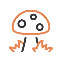 nature, mushroom, autumn, vegetable, food, fungus icon icon