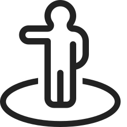 navigation, person, turn, marker, map, location, left icon icon