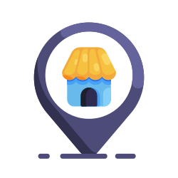 navigation, shop, location, shopping, pin, store icon icon