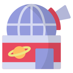 observatory, galaxy, space, science, laboratory, astronomy, research icon icon