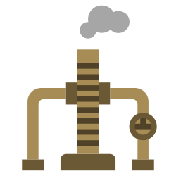 oil, power, energy, factory, illustration, industry, chimney icon icon