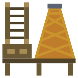 oil, power, industry, factory, illustration, refinery, energy icon icon