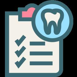 oral hygiene, medical, tooth, dentist, dental records, dentistry, dental icon icon