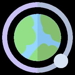 orbit, moon, earth, geography icon icon