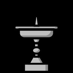 ornament, fountain, decoration, decor icon icon