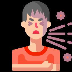 pacient, people, illness, cough, sneeze, sickness, handkerchief icon icon