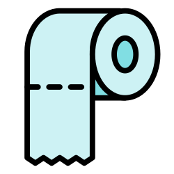 paper, roll, clean, tissue paper, hygiene, tissue icon icon