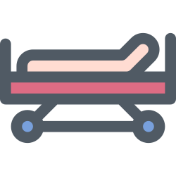 patient, hospital, clinic, healthcare, bed icon icon