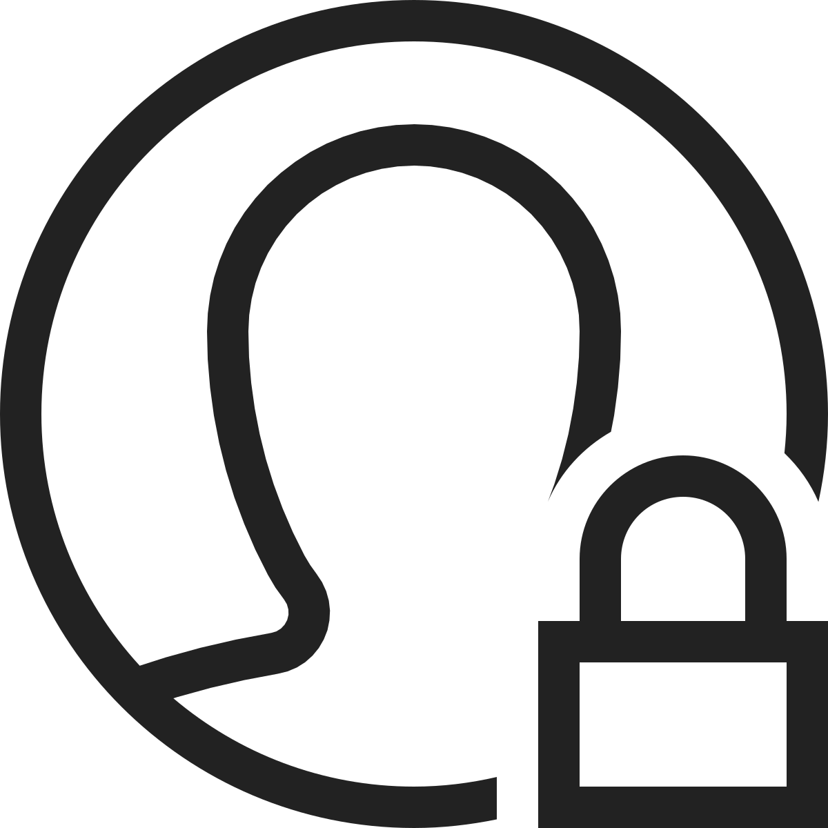 people  group  person  circle  user  profile  lock icon icon