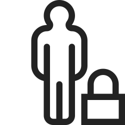 people, group, user, profile, lock, person icon icon