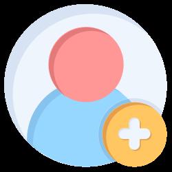 person, add, user, social, friend icon icon