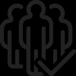 person, profile, user, team, group, check, people icon icon