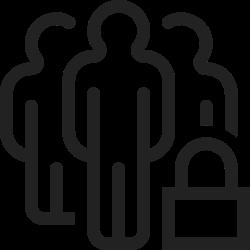 person, profile, user, lock, group, team, security icon icon